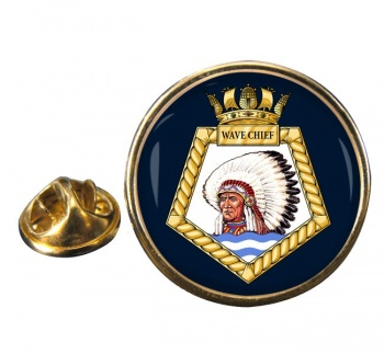 RFA Wave Chief (Royal Navy) Round Pin Badge
