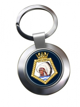 RFA Wave Chief (Royal Navy) Chrome Key Ring