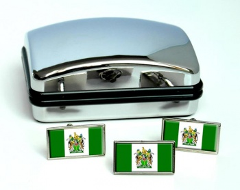 Rhodesia Flag Cufflink and Tie Pin Set