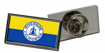 Riverside CA  Flag Pin Badge