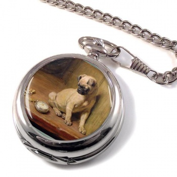 Pug (Tick Tack) by Briton Riviere Pocket Watch