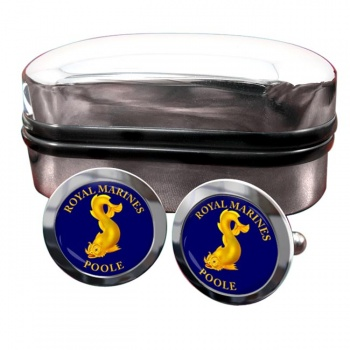 Royal Marines Reserves Poole Round Cufflinks