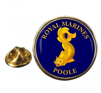Royal Marines Reserves Poole Round Pin Badge