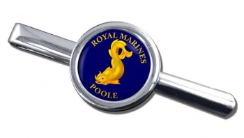 Royal Marines Reserves Poole Round Tie Clip