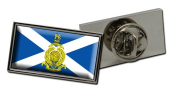 Royal Marines Reserves Scotland Rectangle Pin Badge