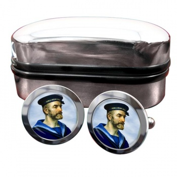 Royal Navy Sailor Round Cufflinks