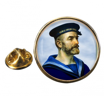 Royal Navy Sailor Round Pin Badge