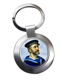 Royal Navy Sailor Chrome Key Ring