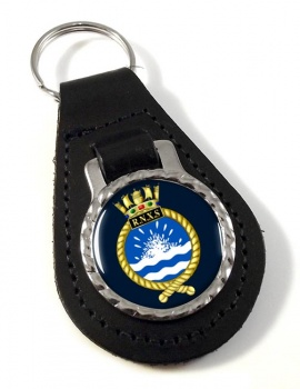 Royal Naval Auxiliary Service Leather Key Fob