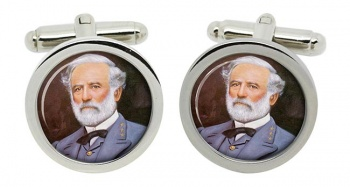 Robert E Lee Round Cufflinks