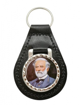 Robert E Lee Leather Key Fob