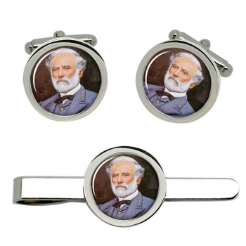 Robert E Lee Cufflink and Tie Clip Set
