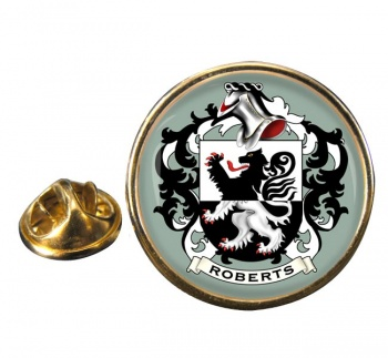 Roberts Coat of Arms Round Pin Badge