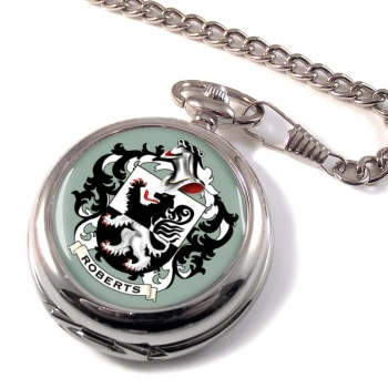 Roberts Coat of Arms Pocket Watch