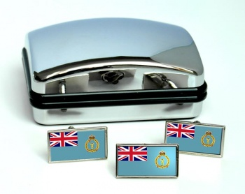 Royal Observer Corps (Royal Air Force) Rectangle Cufflink and Tie Pin Set