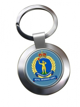 Royal Observer Corps (Royal Air Force) Chrome Key Ring