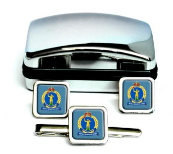 Royal Observer Corps (Royal Air Force) Square Cufflink and Tie Clip Set