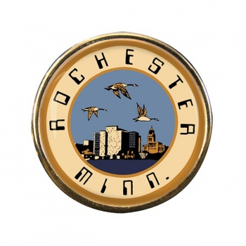 Rochester MN Round Pin Badge