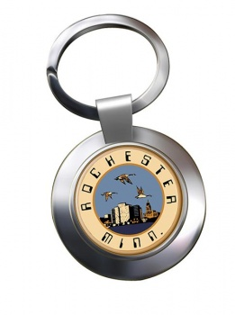 Rochester MN  Metal Key Ring