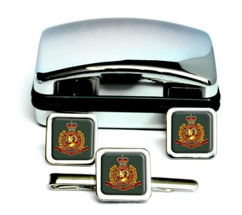 Rocky Mountain Rangers (Canadian Army) Square Cufflink and Tie Clip Set