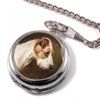 Wire Fox Terrier by Colin Graeme Roe Pocket Watch