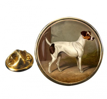 Jack Russell by Colin Graeme Roe Round Pin Badge