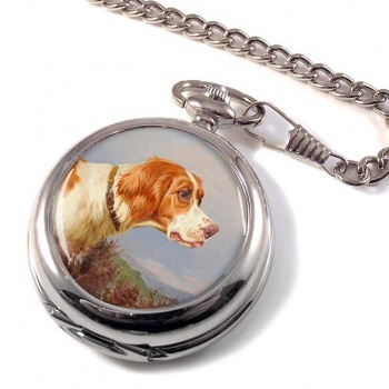 Head Study of a Pointer by Colin Graeme Roe Pocket Watch