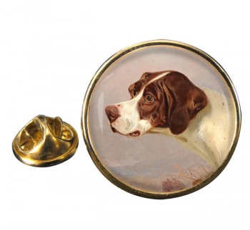 A Pointer by by Colin Graeme Roe Round Pin Badge