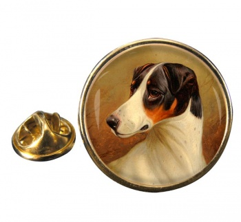 Head Study of a Fox Terrier by Colin Graeme Roe Round Pin Badge
