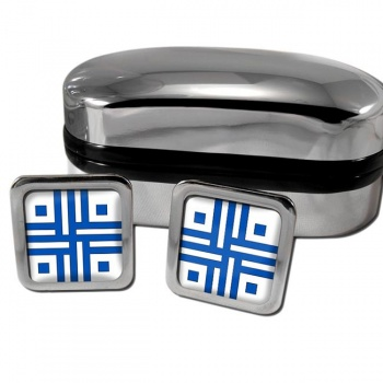 Roman Sacred Cross Square Cufflinks