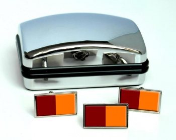 Roma (Italy) Flag Cufflink and Tie Pin Set
