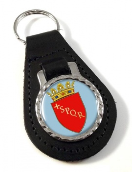 Roma (Italy) Leather Key Fob