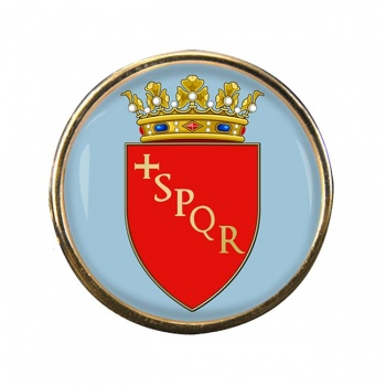 Roma (Italy) Round Pin Badge