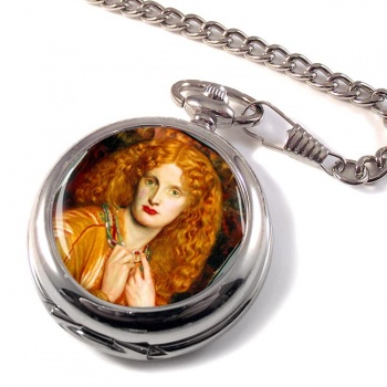 Helen of Troy by Rossetti Pocket Watch