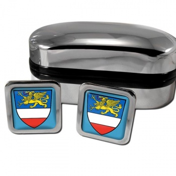 Rostock Germany Square Cufflinks