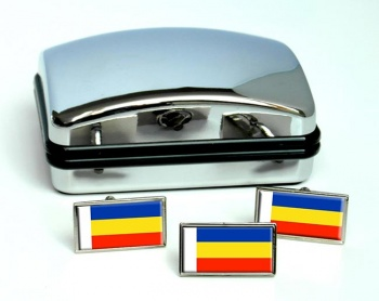 Rostov Oblast Flag Cufflink and Tie Pin Set