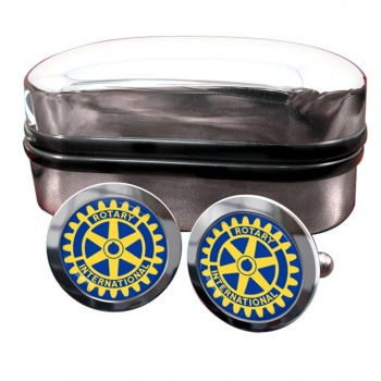 Rotary International Round Cufflinks