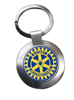 Rotary International Chrome Key Ring