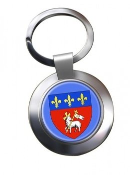 Rouen (France) Metal Key Ring