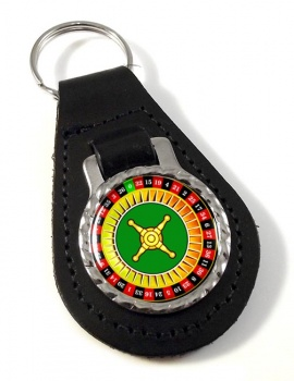 Roulette Leather Key Fob