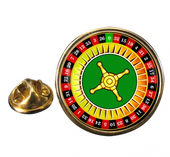 Roulette Round Pin Badge