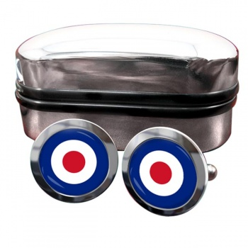 Royal Air Force Roundel Round Cufflinks