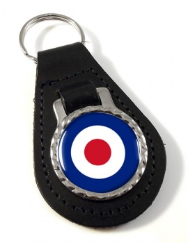 Royal Air Force Roundel Leather Key Fob