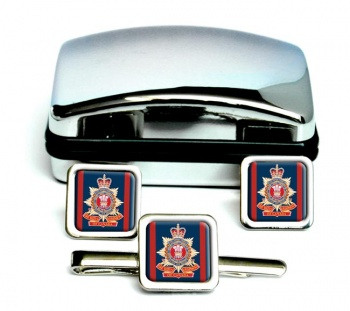 Royal Regiment of Canada (Canadian Army) Square Cufflink and Tie Clip Set