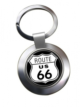 Route 66 Chrome Key Ring