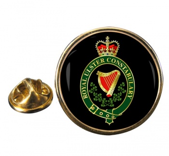 Royal Ulster Constabulary RUC Round Pin Badge