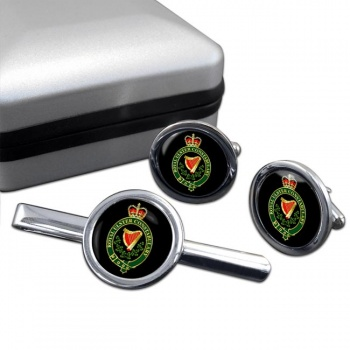 Royal Ulster Constabulary RUC Round Cufflink and Tie Clip Set