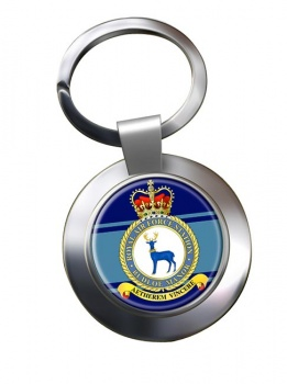 RAF Station Rudloe Manor Chrome Key Ring