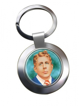 Rudy Vallee Chrome Key Ring