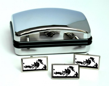 Rugby Try Rectangle Cufflink and Tie Pin Set